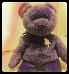 Ty 1997  Princess Diana purple Beanie Baby Bear